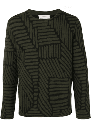 Cerruti 1881 geometric-pattern jumper - Green