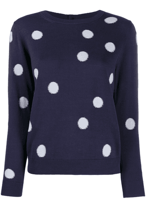 PS Paul Smith dotted long sleeve jumper - Blue