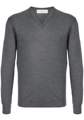 Cerruti 1881 V-neck wool jumper - Grey