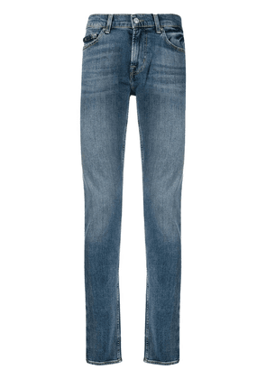 7 For All Mankind Ronnie mid-rise skinny-fit jeans - Blue