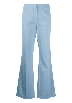 Courrèges flared fitted trousers - Blue