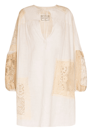 By Walid Abigail 19th century smock tunic - NEUTRALS