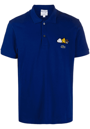 Lacoste x Friends With You appliqué detail polo shirt - Blue