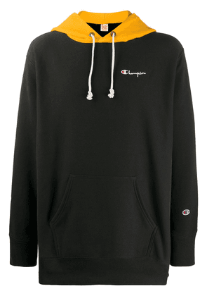 Champion oversized embroidered logo hoodie - Black