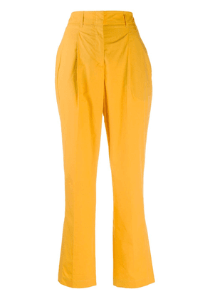 Dorothee Schumacher cropped pleated trousers - Yellow