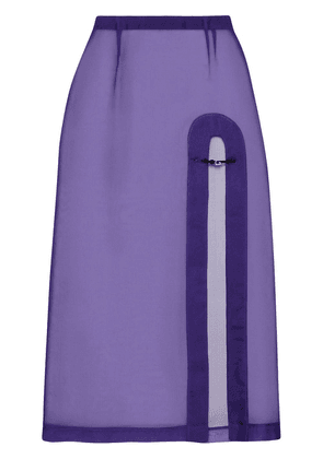 Gucci open front skirt - PURPLE