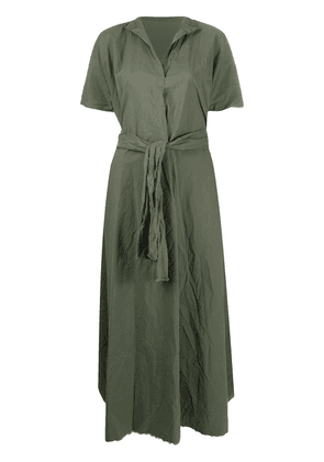 Daniela Gregis poplin tie-waist dress - Green