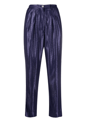 Forte Forte geometric print tapered trousers - Blue