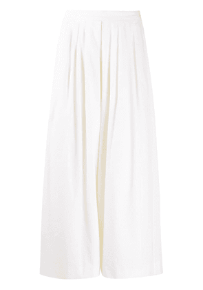 PS Paul Smith wide-leg cropped flared trousers - White