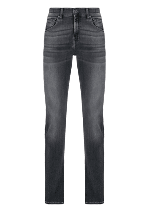 7 For All Mankind Slimmy Tapered mid-rise jeans - Grey