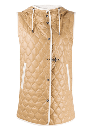 Fay quilted hooded gilet - Neutrals