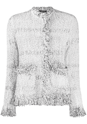 Avant Toi fitted woven jacket - White