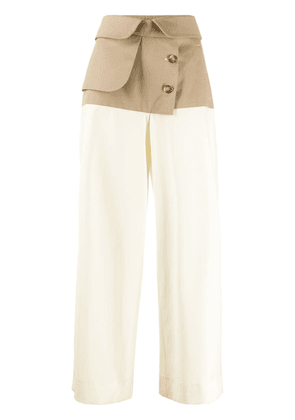 Each X Other Hybrid trench palazzo pants - NEUTRALS