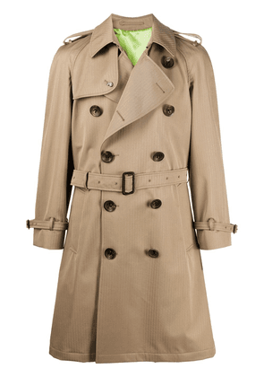 Gabriele Pasini belted trench coat - NEUTRALS