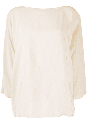 Daniela Gregis crinkled top - NEUTRALS