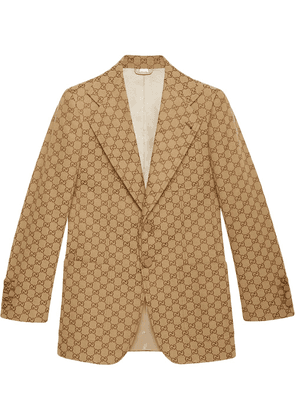 Gucci GG canvas single-breasted jacket - NEUTRALS