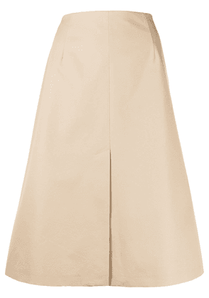 Maison Margiela A-line cotton skirt - NEUTRALS