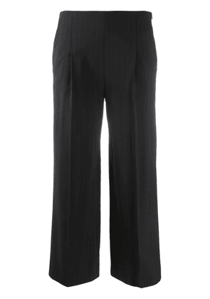 Chalayan cropped wide leg trousers - Blue