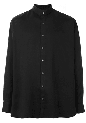Cerruti 1881 mandarin collar shirt - Black