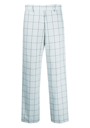 Paul Smith check wide-leg trousers - Blue