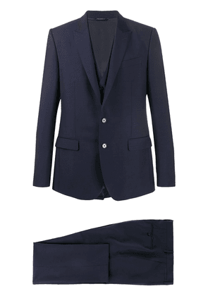 Dolce & Gabbana single-breasted two-piece suit - Blue