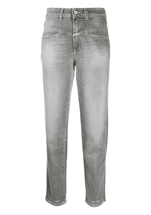 Closed high-rise tapered cropped jeans - Grey