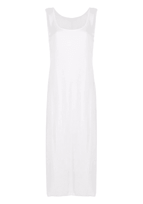 The Row scoop-neck sleeveless midi dress - White