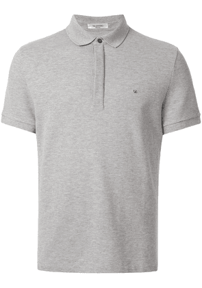 Valentino Rockstud detail polo shirt - Grey