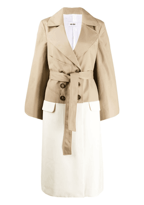 Each X Other Hybrid trench coat - NEUTRALS