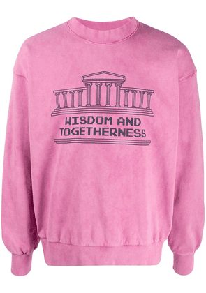 Aries Wisdom and Togetherness sweatshirt - PINK