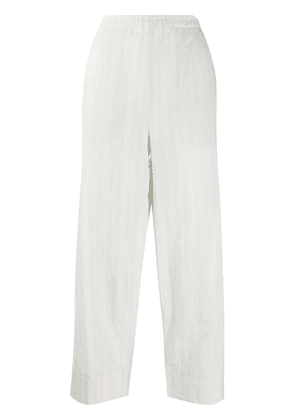 Barena cotton striped cropped trousers - Blue