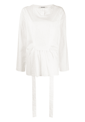 Chalayan belted tunic top - White