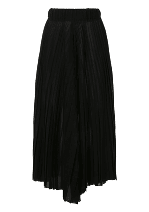 Dusan wool voile pleated trousers - Black