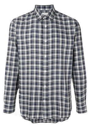 Cerruti 1881 checked long sleeved shirt - Blue