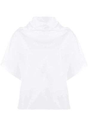 Dusan Popeline cropped tunic top - White