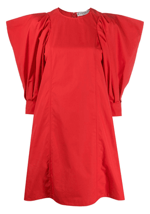Givenchy exaggerated shoulder dress - Red