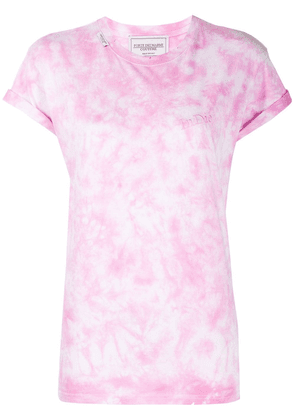 Forte Dei Marmi Couture embroidered tie-dye T-shirt - PINK