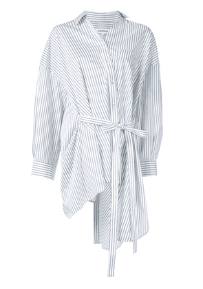 Enföld striped asymmetric shirt - White