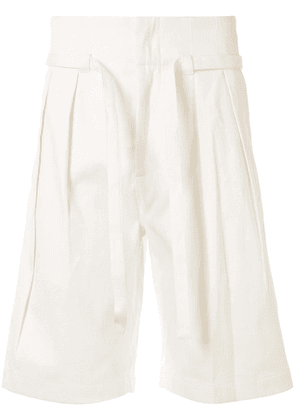 Cerruti 1881 pleated bermuda shorts - White
