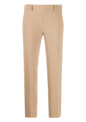 Alberto Biani pleated cropped trousers - Brown