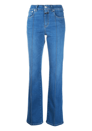 Closed exposed-stitch high-rise flared jeans - Blue