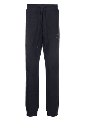 Hackett embroidered logo track trousers - Blue