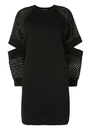 Karl Lagerfeld cut-out perforated detailed dress - Black