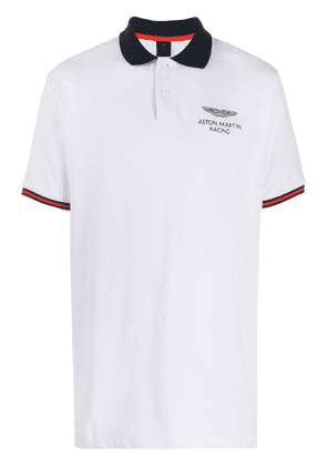 Hackett logo-embroidered polo shirt - White