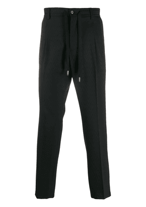 Dolce & Gabbana drawstring tailored trousers - Black