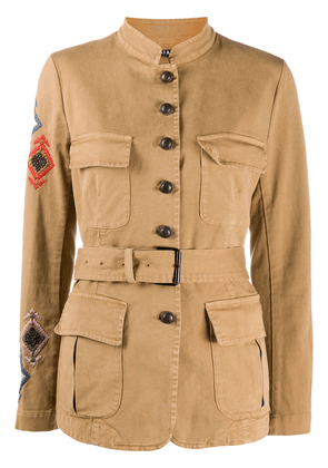 Bazar Deluxe embroidered military jacket - Brown