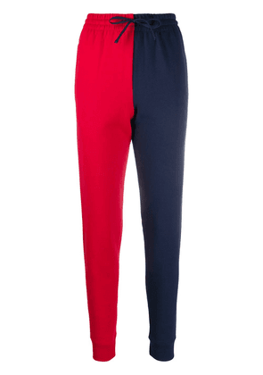 Cédric Charlier panelled colour-block track pants - Red
