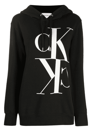 Calvin Klein Jeans monogram hooded sweatshirt - Black