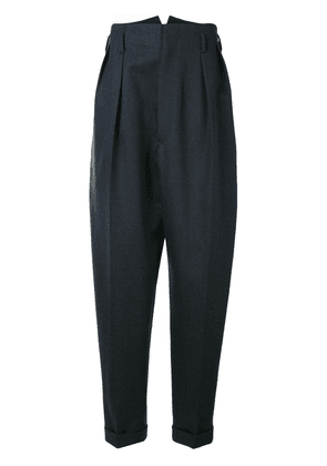 Maison Margiela loose-fit tapered trousers - Blue