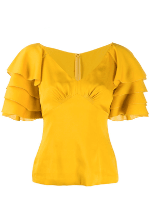 Dolce & Gabbana ruffle sleeve blouse - Yellow